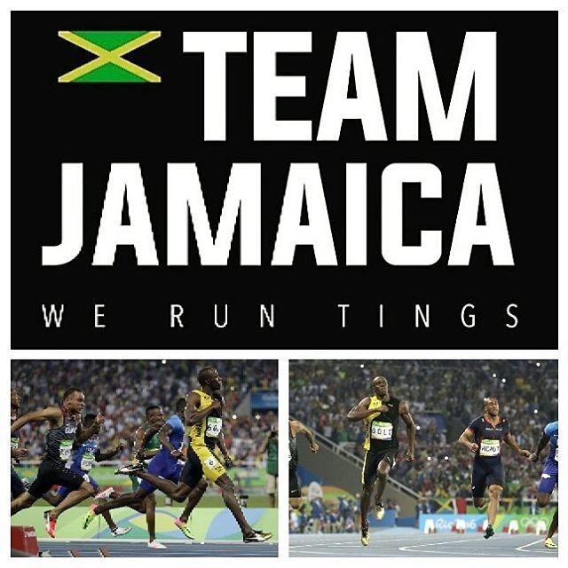 Making history. Congratulations @usainbolt on the triple double. Big Ups Team Jamaica. #jamaica #rio2016 #jamaicatrackandfield #montegobay #olymipichistory #goldmedal #proudjamaican #coldbrewcoffee
