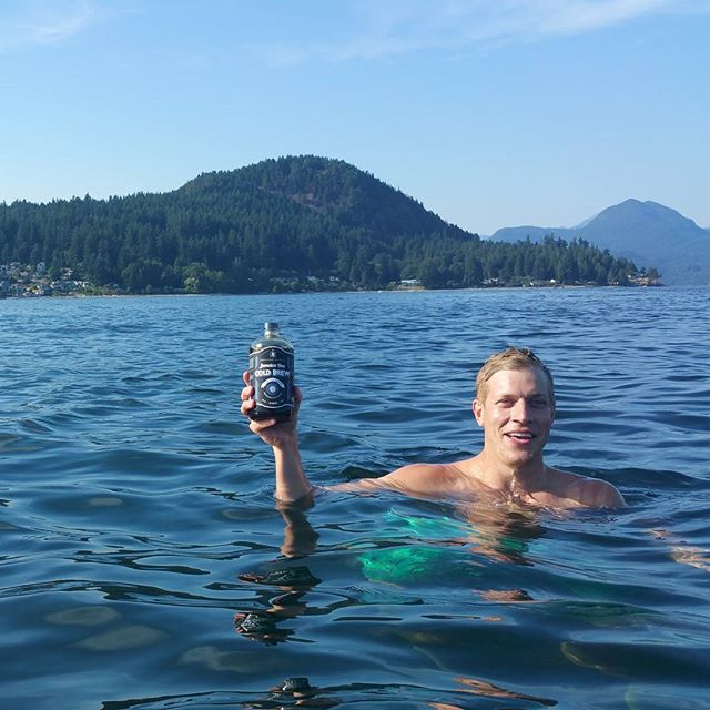 Treading water with Jamaica Blue Cold Brew on the high seas. When we said add water we meant filtered!