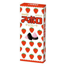 Apollo Strawberry - Chocolate & strawberries, it's a classic combo as old as time. My mouth waters everytime I see a box of these sweets. The adorable strawberry pattern on the box is so perfect and the chocolates just melt in your mouth.