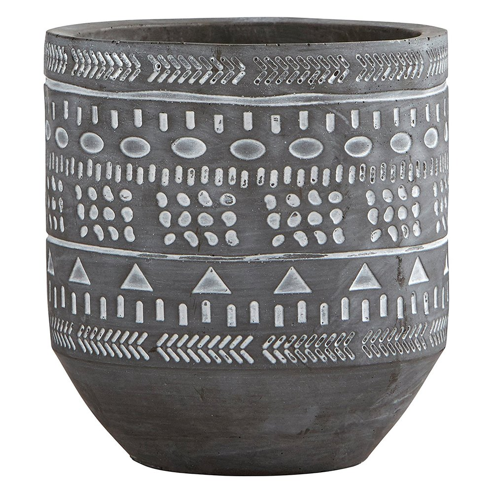 Rivet Patterned Ceramics - I love these fun, textured planters. The patterns remind me of ones traditionally on mudcloth and the geometrics go with anything.