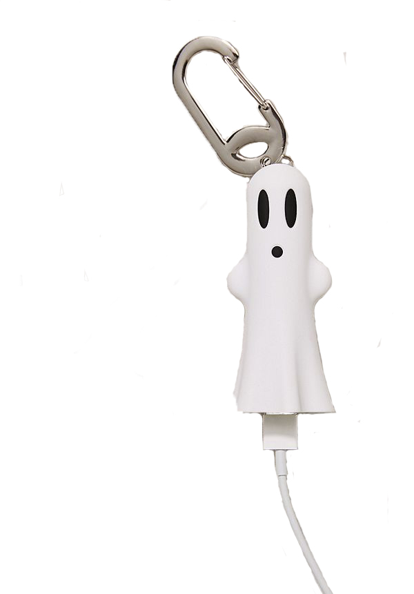 Buqu Ghost Portable Power Bank - This adorable tiny guy is good enough for one smartphone charge AND it glows in the dark!
