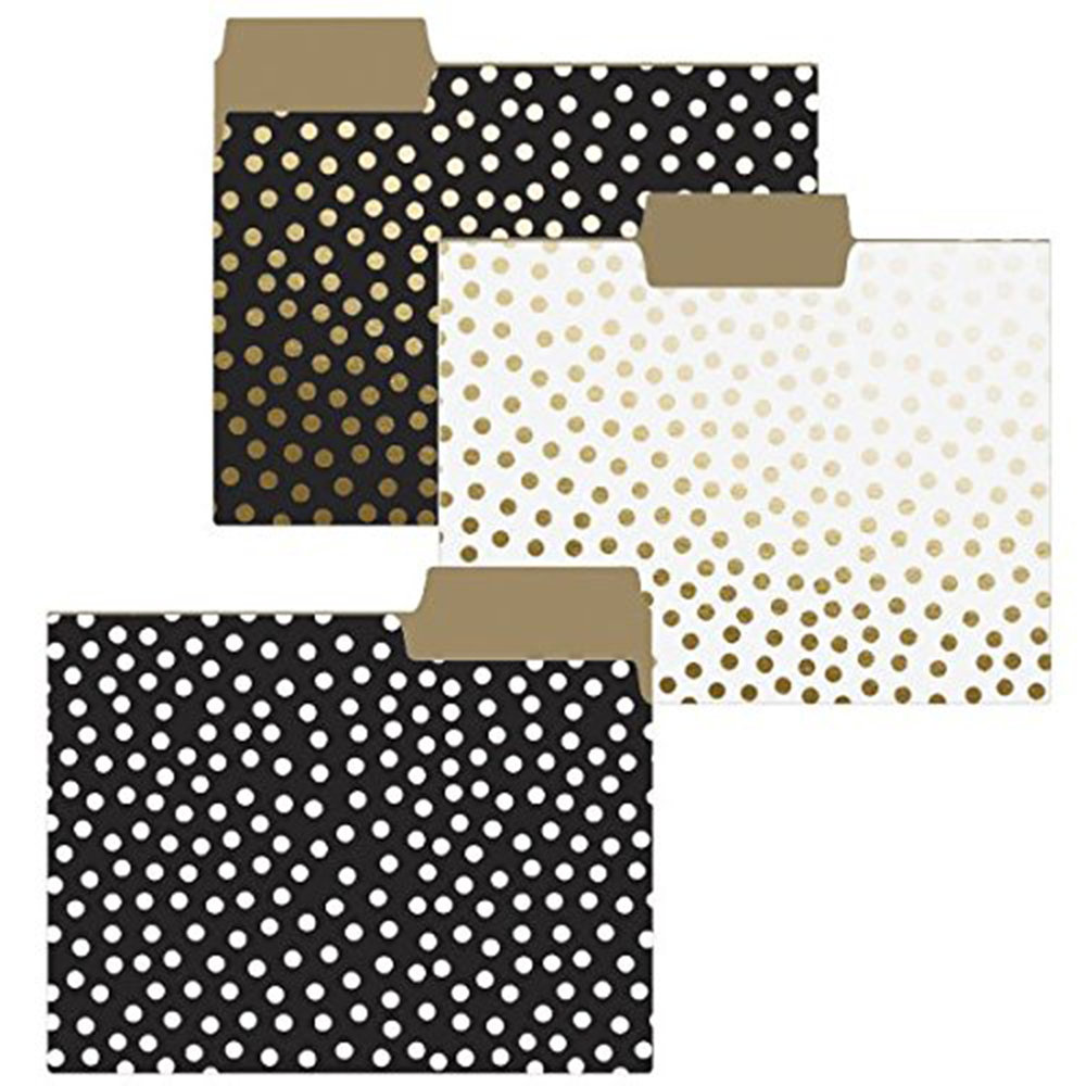 Graphique Gold Dots Folder - You don't have to settle for old fashioned manila envelopes. Make your work more palatable to access.