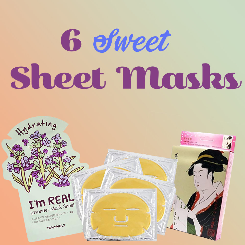6 Sweet Sheet Masks - Share them with your friends, your kids, or anyone in serious need of hydration and rejuvenation