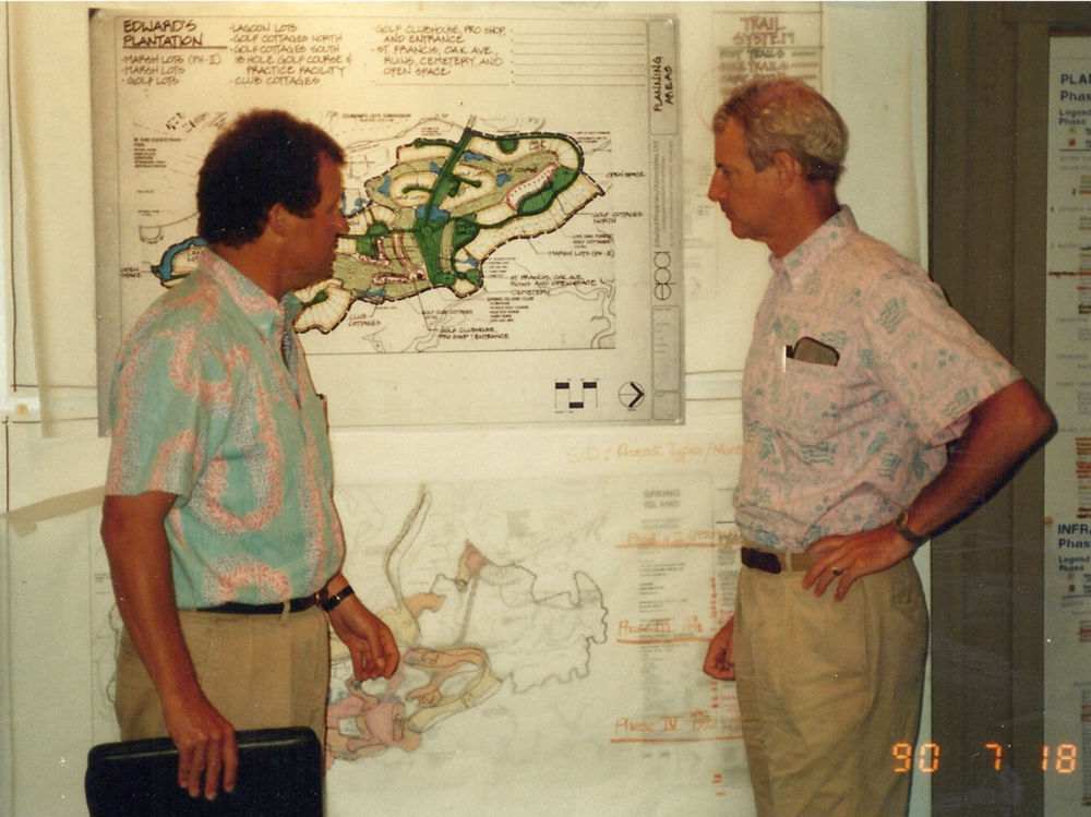 Jim Chaffin & Jim Light Going over Master Plan for Spring Island