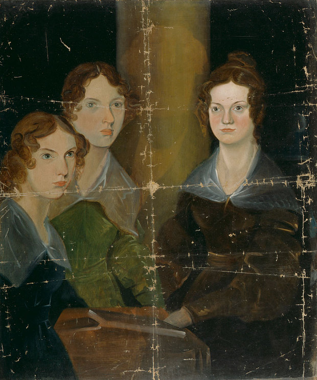 Painted by Branwell,  who hoped to become a professional artist, it is well-known to scholars of the Brontes, first mentioned by author Mrs Gaskell in 1853 when it showed just the three sisters separated by the pillar Photo: National Portrait Gallery