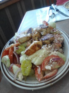 Greek salad the other place