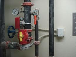 When water flows through the pipes this switch sends a signal to the fire panel