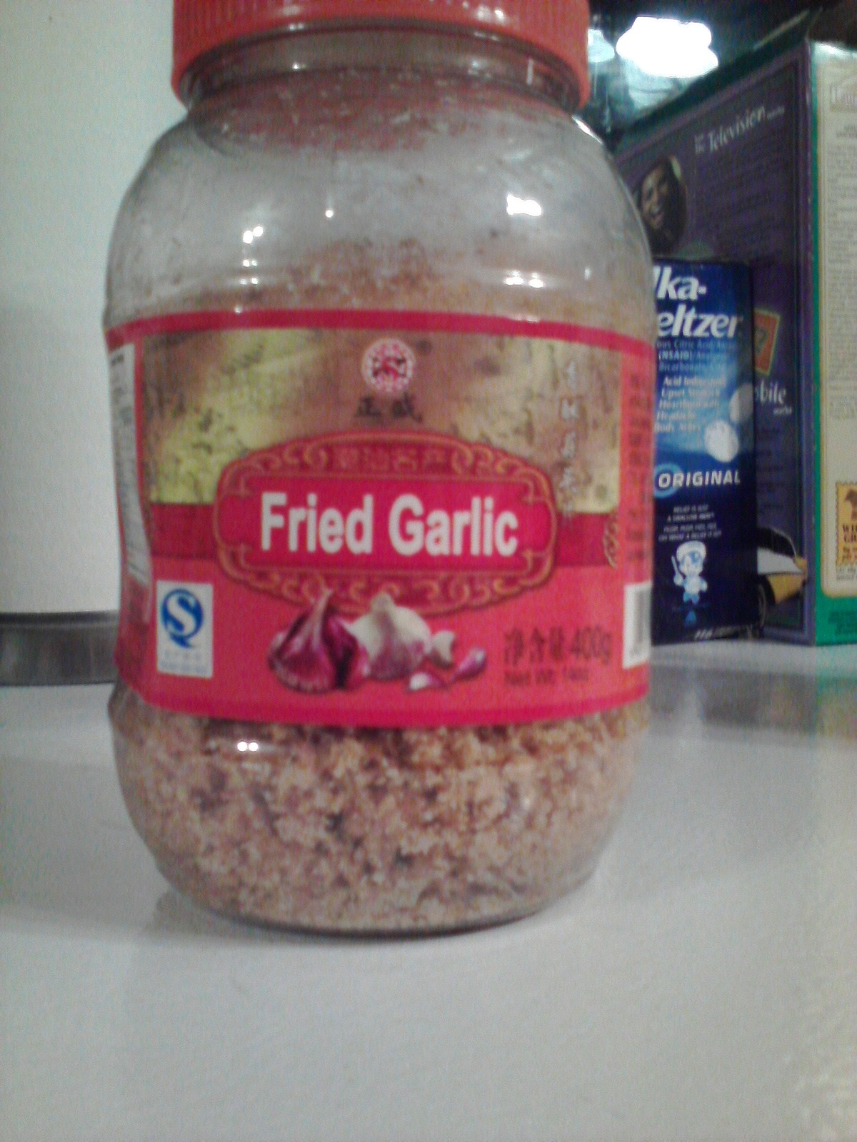 I try not to put garlic in everything but when I do this is a quick way to do it that tastes great. Just a sprinkle does it. Costs 5.95 in Tay Do
