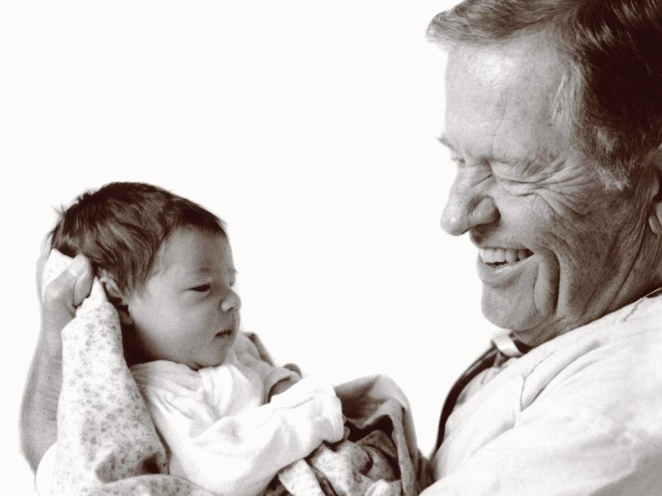 Brazelton with a baby.jpg
