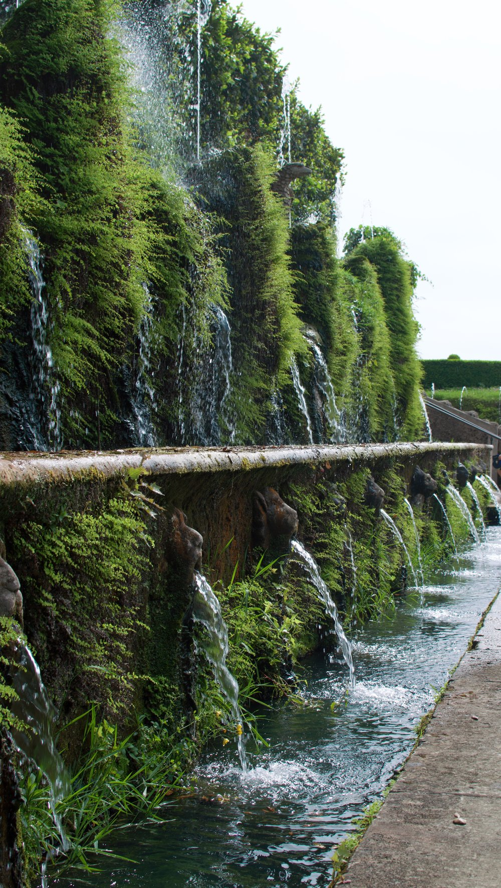Hundred Fountains: Representing the Roman aqueducts, each little mask that spouts water is different!