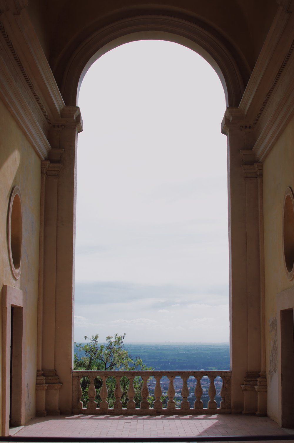 Overlooking the Italian countryside from the Villa. The same view that perhaps a certain Cardinal had?