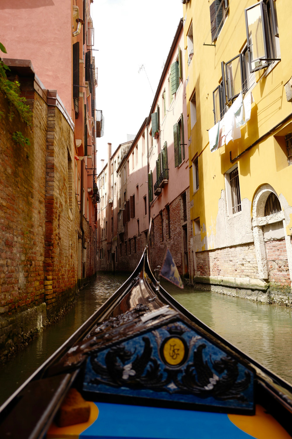 One of the beautiful canals seen only by gondola