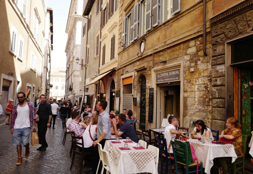 Walking around the streets near Piazza Navona