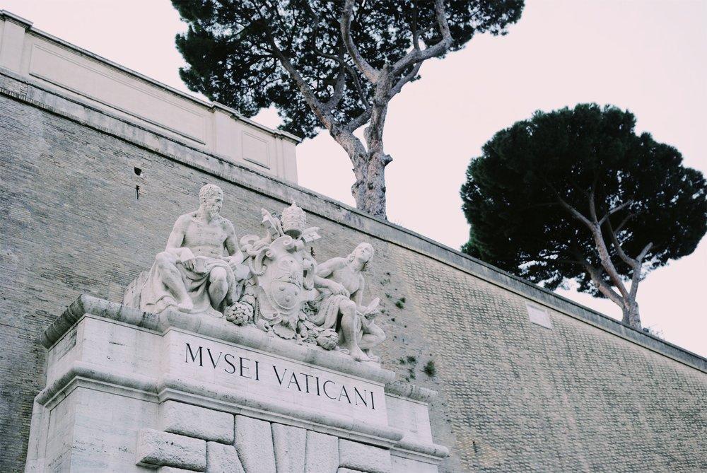 One of two entrances to the Vatican (Vatican Museum entrance): viale Vaticano. The other entrance is St. Peter's basilica, from via della Conciliazione.