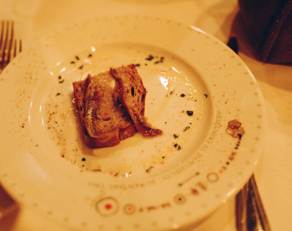 Armando Al Pantheon: Anchovies on Toast