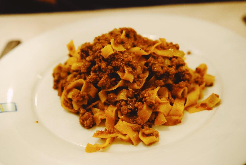 Colline Emiliane: Tagliatelle bolognese
