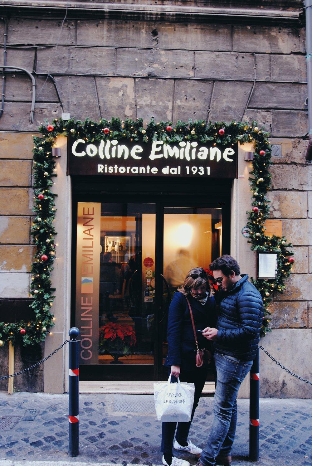 Colline Emiliane: Entrance to the Restaurant