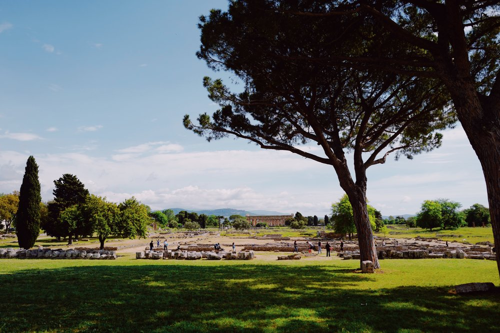 View of Temple of Hera II