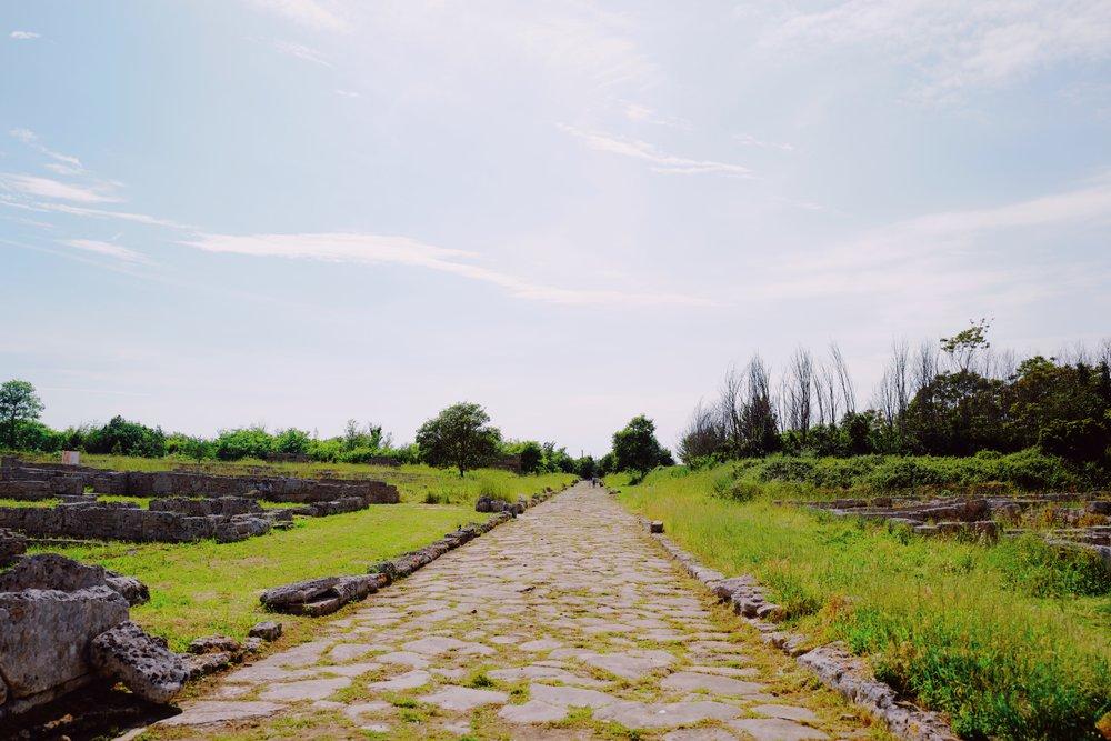Exploring the ruins of Paestum