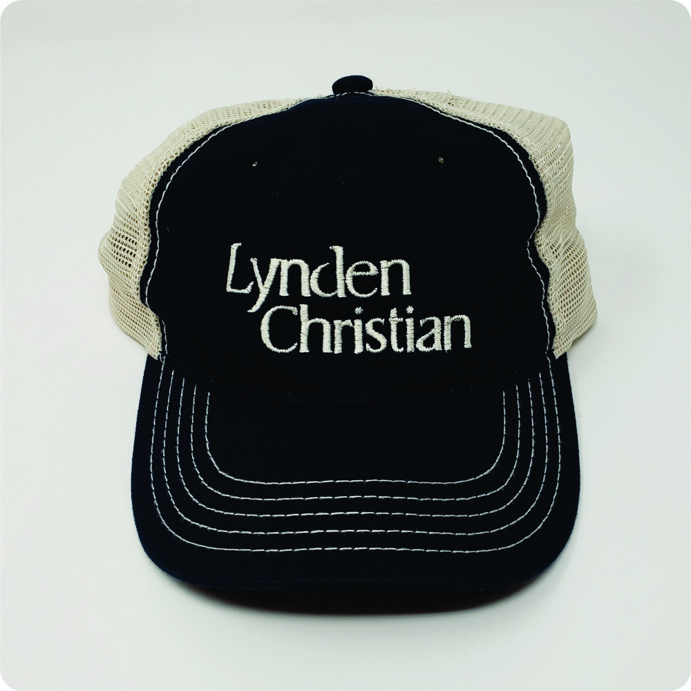 c57ae2fa District Super Soft Mesh Back Cap, Lynden Christian — Hats Off