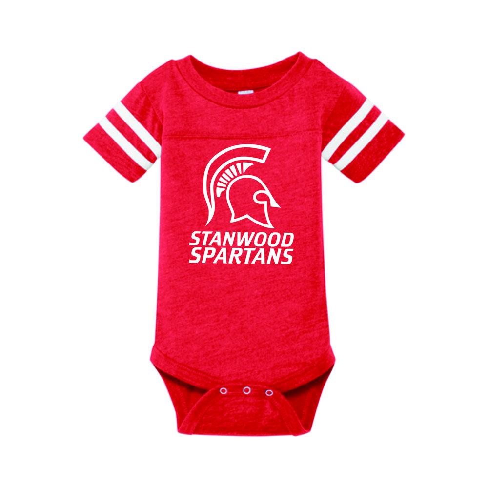 3e2bd97f0c7 Rabbit Skins™ Infant Football Fine Jersey Bodysuit, Stanwood Spartans —  Hats Off