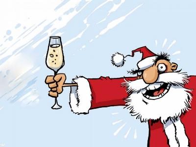Cheery Santa