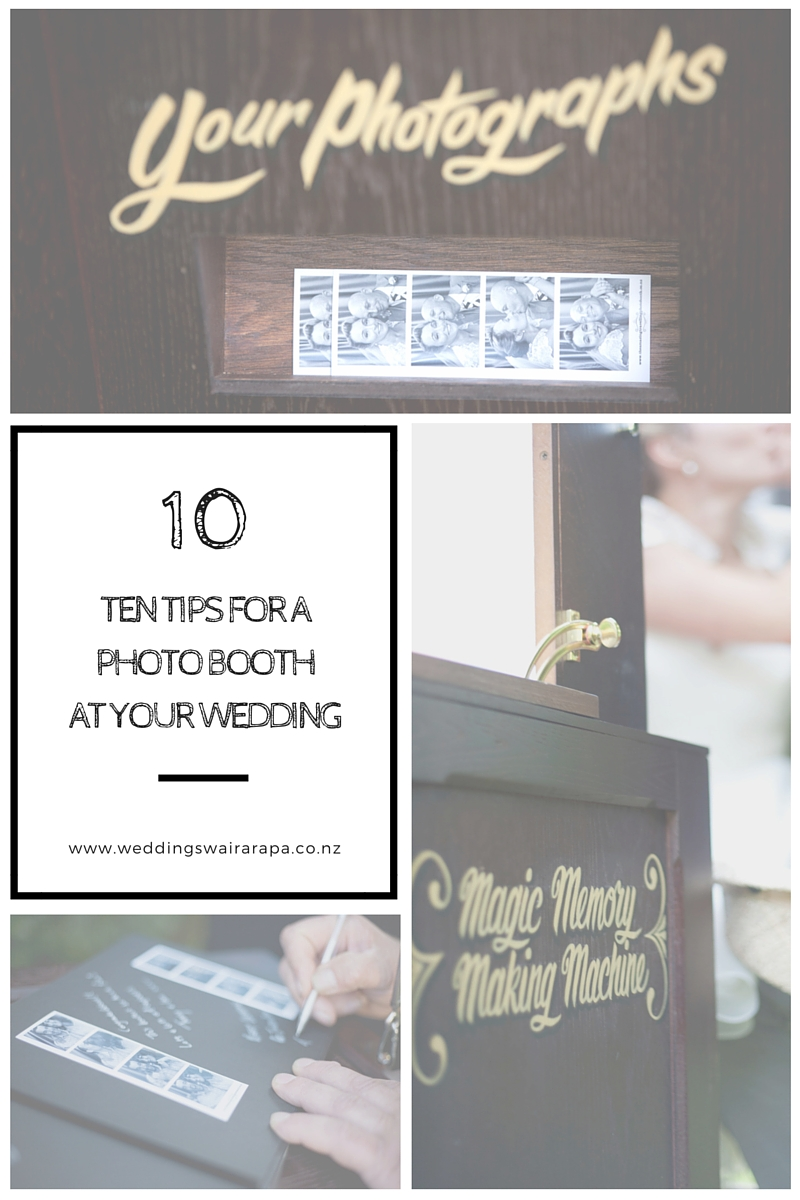 Ten Tips for a photo booth at your wedding