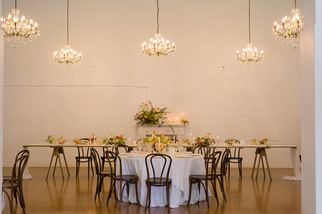 Dining room setup at Rose & Smith