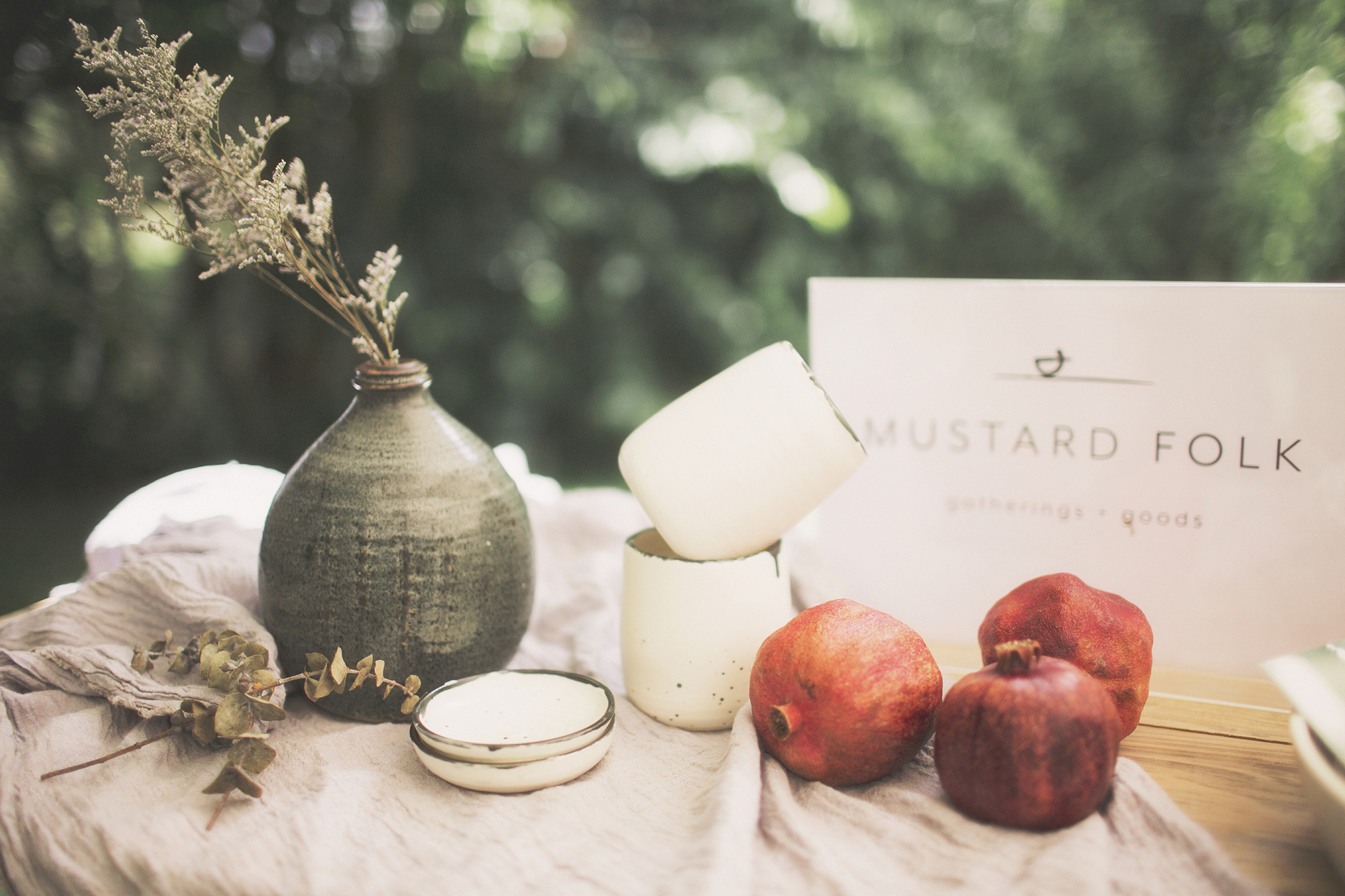 AUTUMN colour inspiration for weddings. Photo by Jenny Siaosi, table setting by Mustard folk.