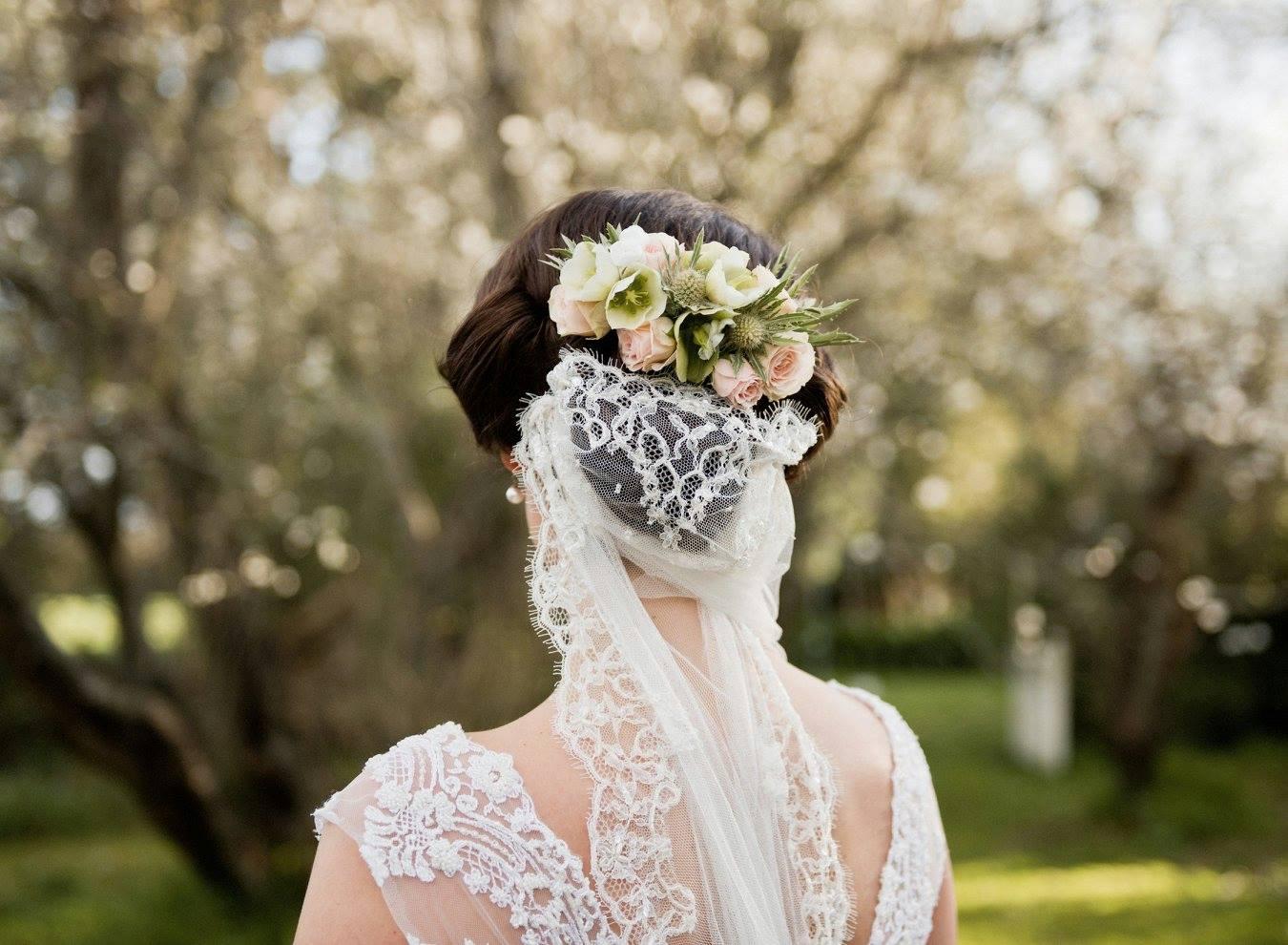 Soft pastel floral headpiece