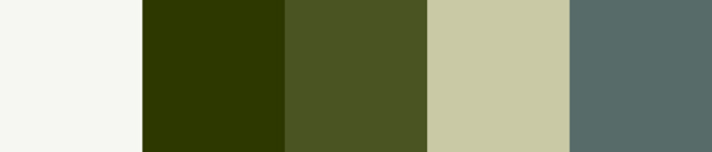Green and white colour palette