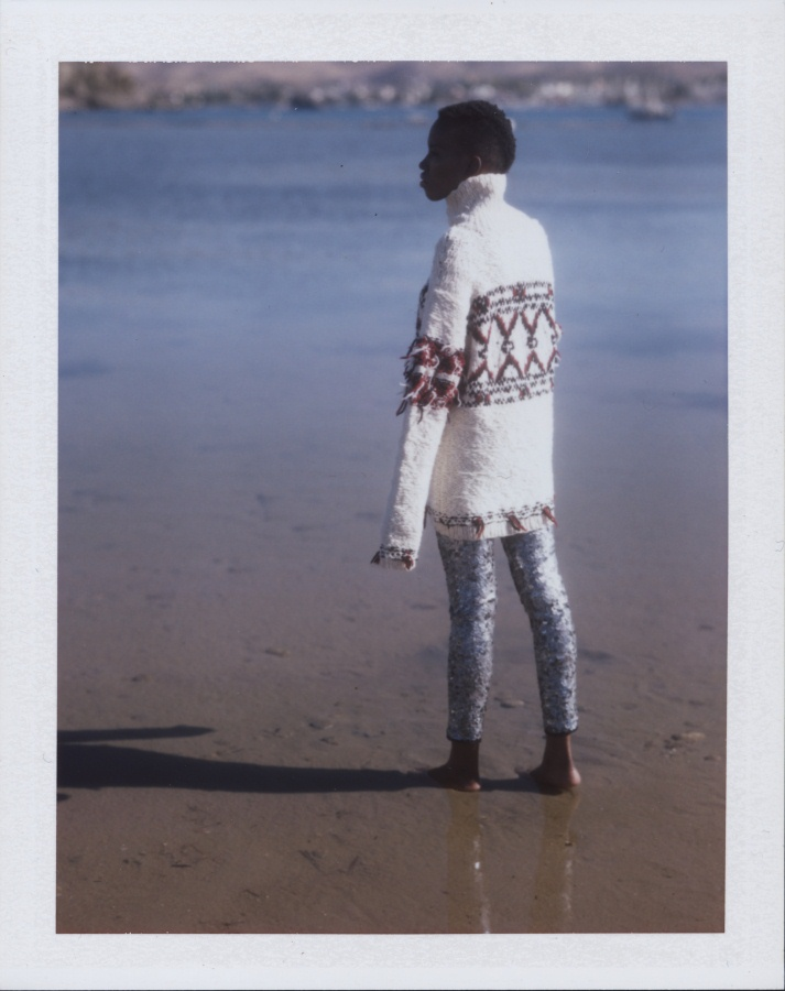Isabel Marant pour H&M editorial | Speed Graphic & Aero Ektar 178mm/f2/5 | Fuji FP-100C film