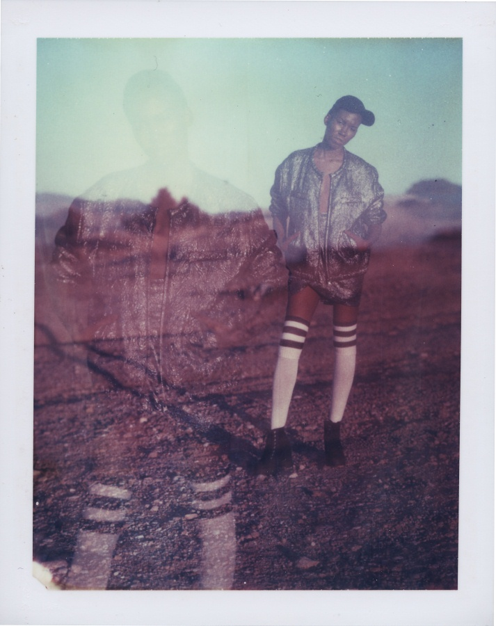 Isabel Marant pour H&M editorial | Speed Graphic & Aero Ektar 178mm/f2/5 | Polaroid 669 film