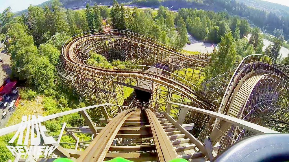 THUNDERCOASTER - Construction, repair & maintenance. Tusenfryd, Norway.