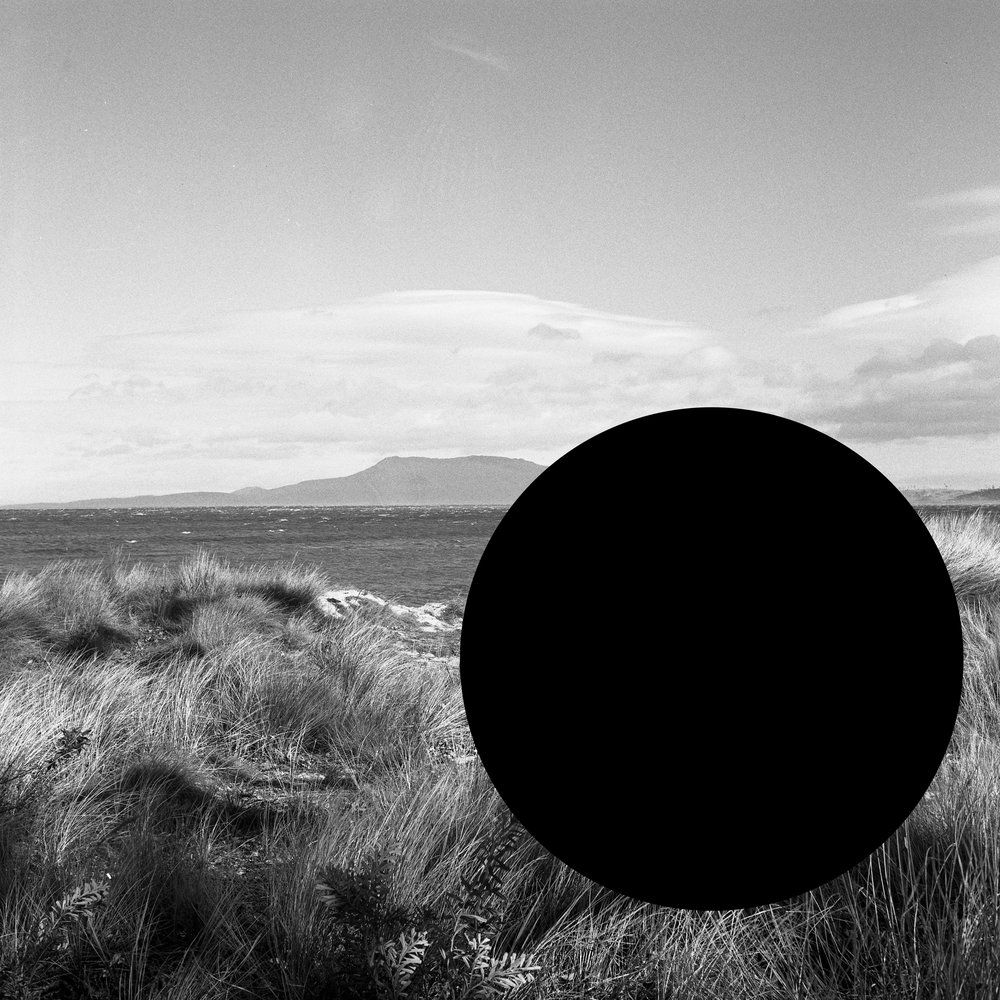 James Tylor ,  (Deleted scenes) From an untouched landscape #7 , 2013. East Coast of Tasmania, Palawa land. Inkjet print on hahnemuhle paper with hole removed to a black velvet void, 60 x 60cm (framed). Courtesy the artist and UTS Art Collection.