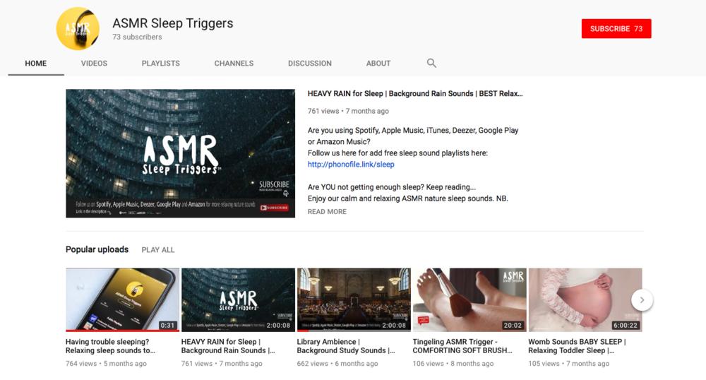 Sleep Videos on YouTube - Long soothing sleep videos. Great before bedtime.