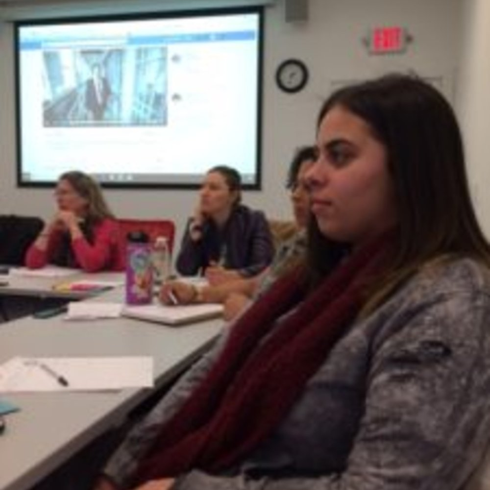 Iliana (Justice Advisor) listens to our guests from CSSD
