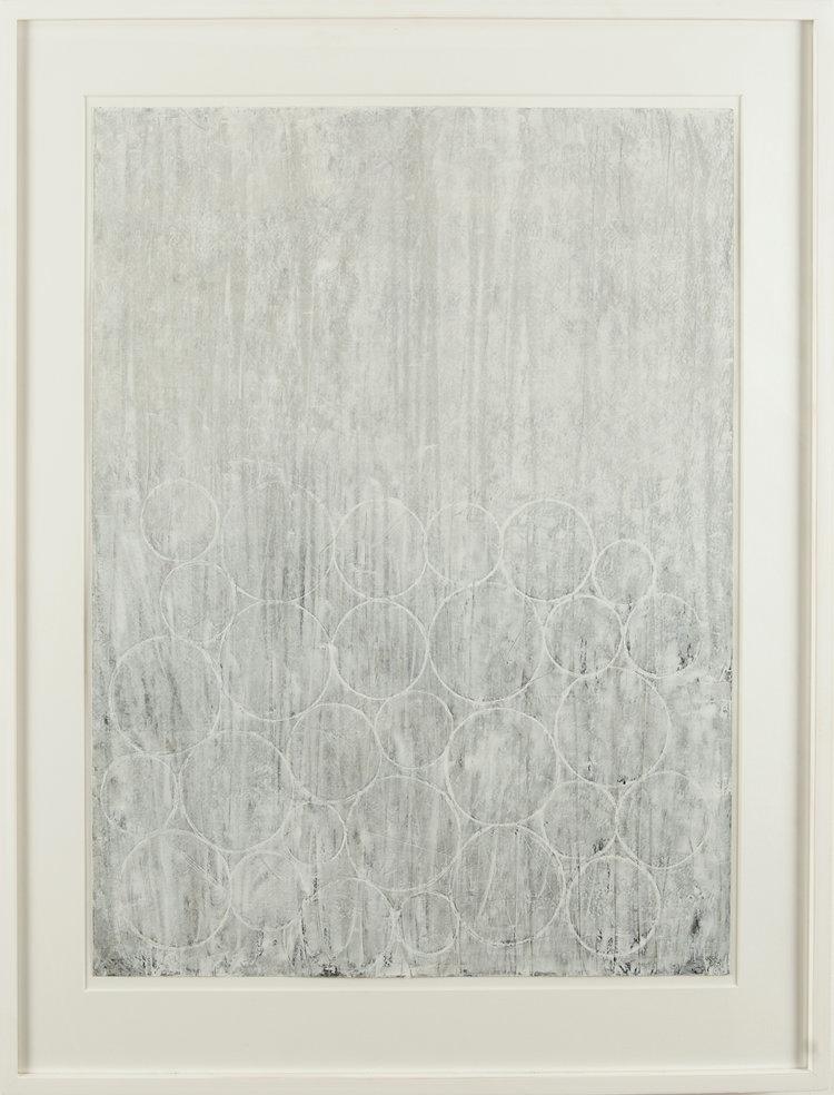 WHITE CIRCLES 65cm x 82cm FOR SALE