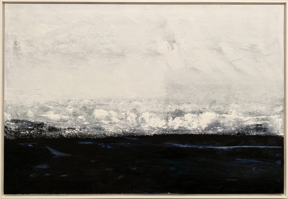 Metallic Sea oils on canvas. 154cm x 104cm FOR SALE