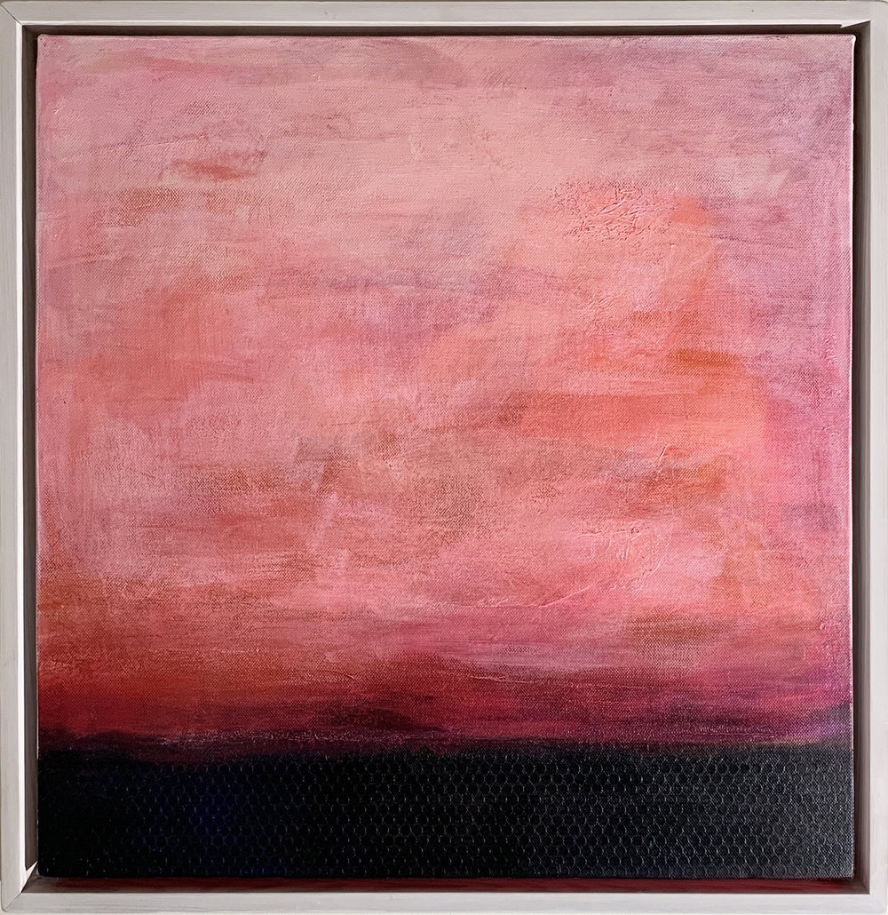 PINK SUNSET 50cm x 50cm ACRYIC. FOR SALE