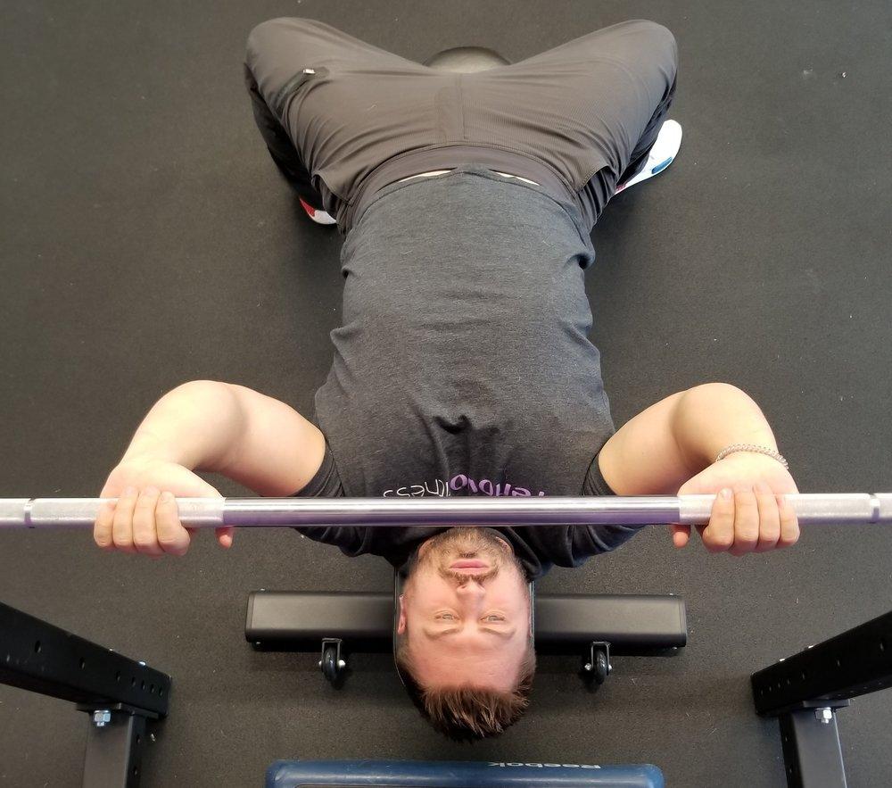 Narrow grip bench press.