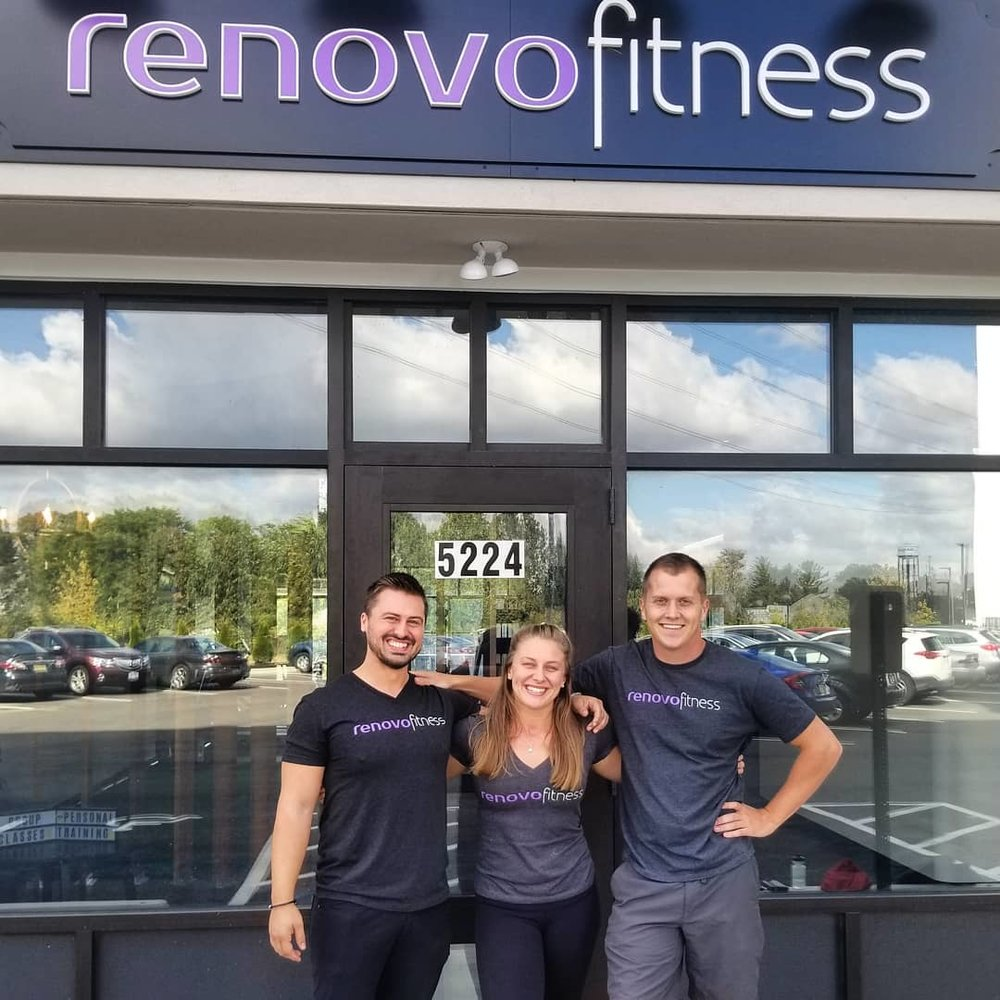Who we are - Renovo Fitness is a family and a community first, and a gym second. The three owners are a brother, best friend, and little sister come together to make fitness fun and accessible to the masses. In 2018 we took our humble warehouse personal training business into a beautiful new facility, in partnership with Landmark Lofts. Here, we are not only able to offer free 24/7 access to the residents, but also 24/7 memberships, classes and personal training to the Hilliard community as a whole. We couldn't be more grateful for the opportunity to help such a wide array of people find the fun in fitness!