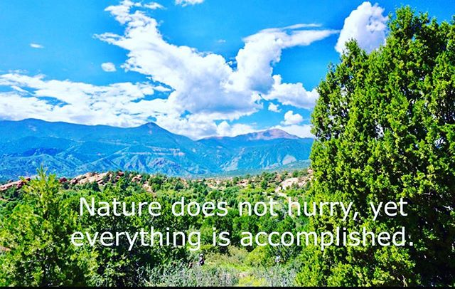 www.RegenerAte5280LLC.com Nature does not hurry, yet everything is accomplished. -Lao Tzu #laotzu #laotzuquote #wisdom #awakening #instadaily #famousquotes #quotesaboutlife #quotestoliveby #quotesdaily #dailyquotes #nature #mothernature #qotd #love #blueskies #content #teacher #zen #yingyang #openyoureyes #lifequotes #life #lifestyleblogger #lifehacks #loveyourself #gogetter #inspire #inspiration #lovenature #whywelovenature