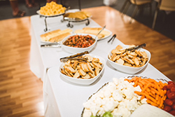 Catering: - Delicious food and a variety of services are provided for every event. Popular menu selections will be prepared on premise by our executive chef. You and your guests will enjoy a customized menu chosen by you - just for you!