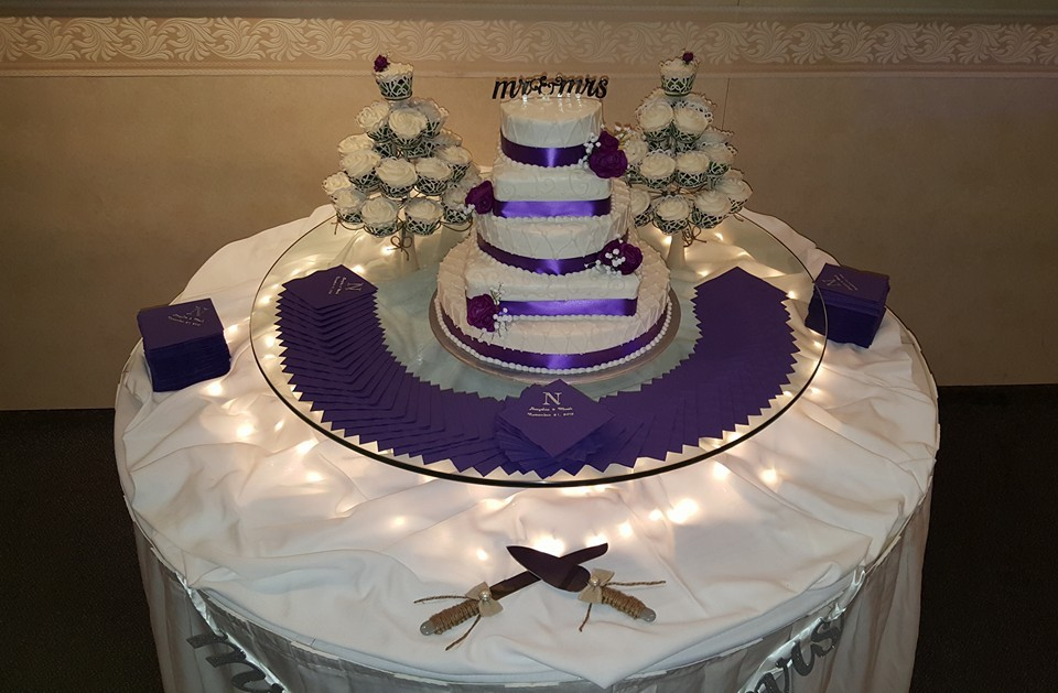 Cake Service:  - Your beautiful wedding cake or specialty dessert will be cut and served to your guests by our wait staff. Your top cake will be wrapped for freezing, so that you can enjoy it on your first anniversary.