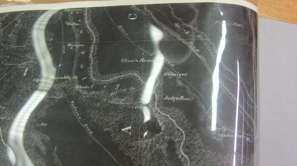 Detail of Map from 1860s Showing Weisiger Plantation