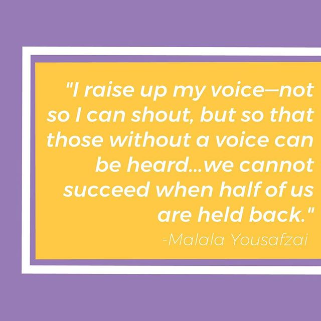 Quote of the week // Click the link in our bio to find out how we are working to further gender equity— and how you can support our work!