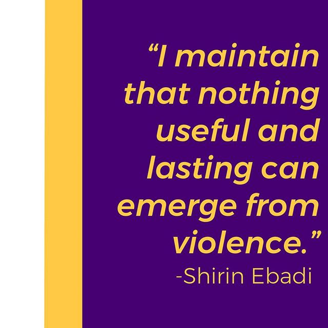 Quote of the week // Spoken by Shirin Ebadi, the first Iranian & Muslim woman to win the Nobel Peace Prize. Ebadi is a lawyer, former judge, and prominent human rights activist who primarily focuses on women's, children's & refugee rights. #EmpowerLab