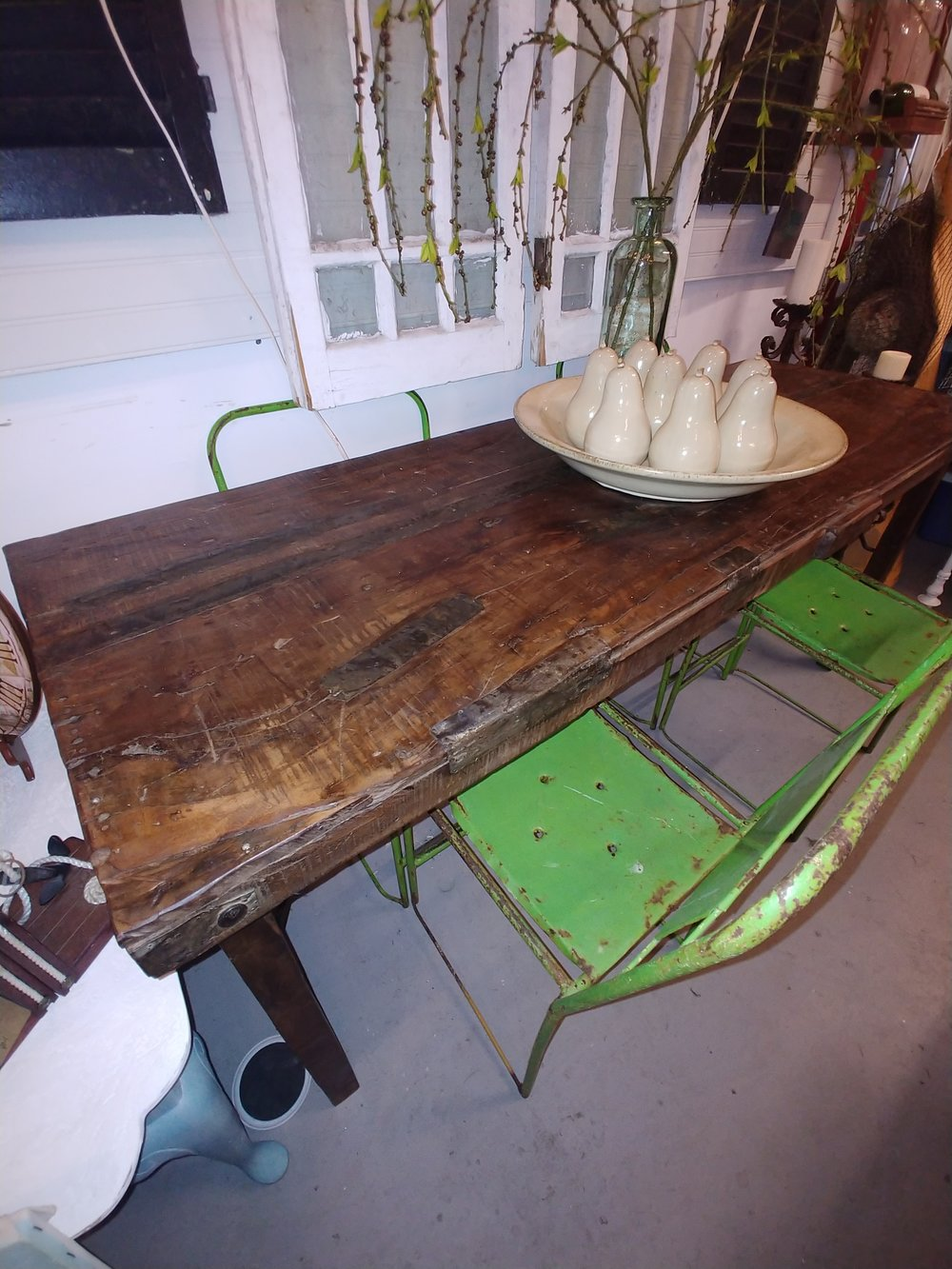 RUSTIC RECLAIMED WOOD FARM TABLE (FOLDING)