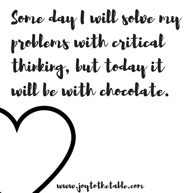 Who gets your vote for best problem solver...🍫 or 🍷? 🤔 #decisionsdecisions